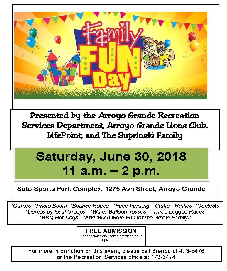 Family Fun Day Flyer 2018
