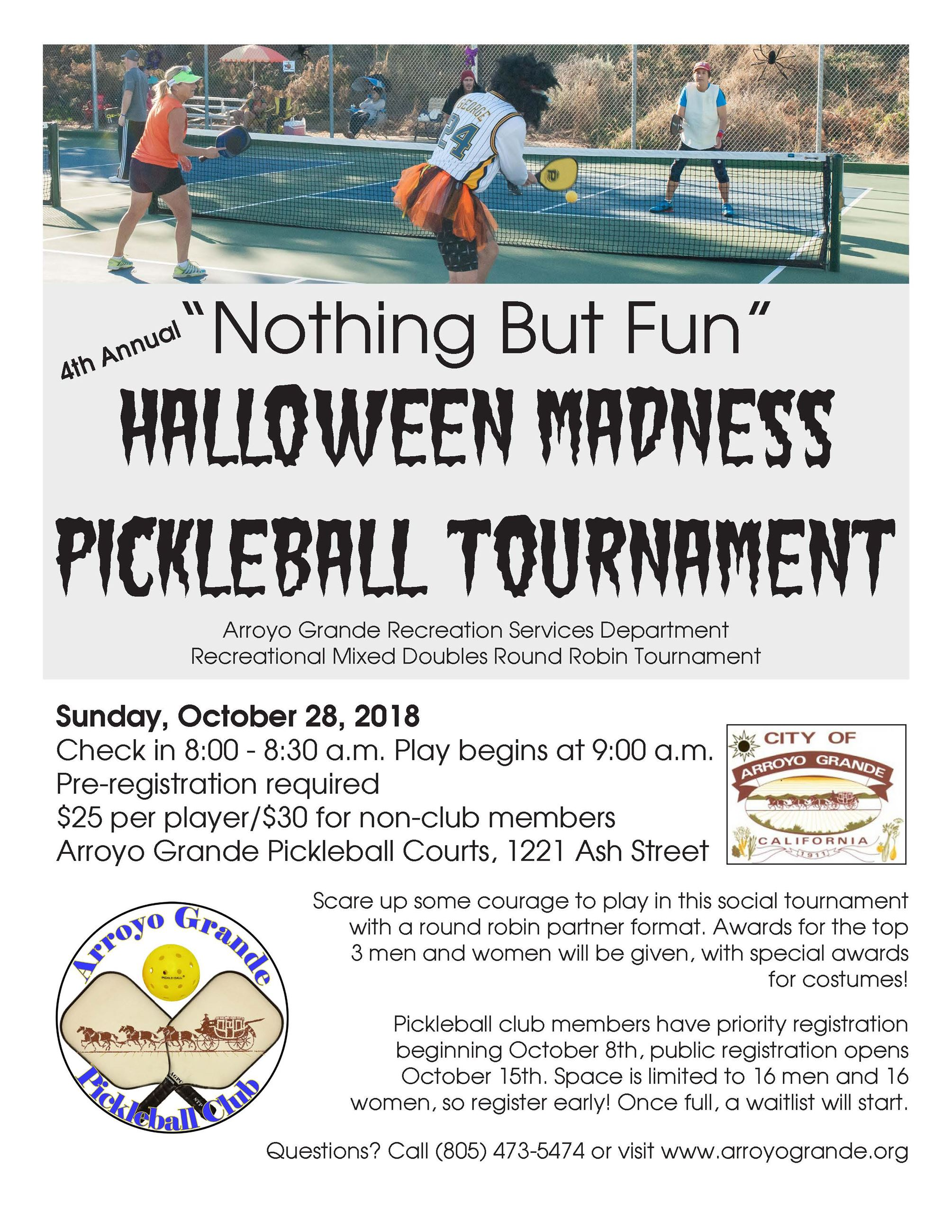 Pickleball Halloween Tournament 2018