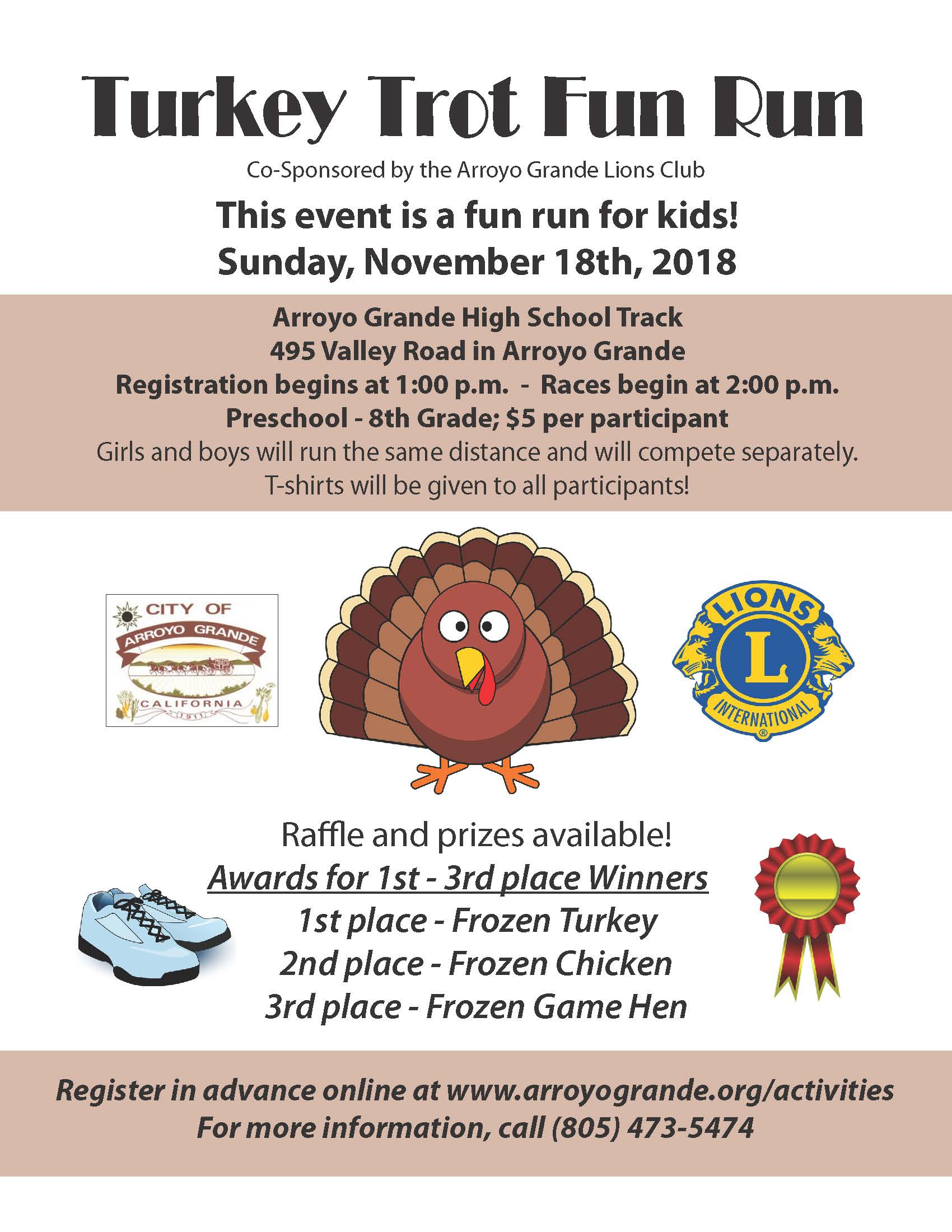 Turkey Trot 2018 Flyer