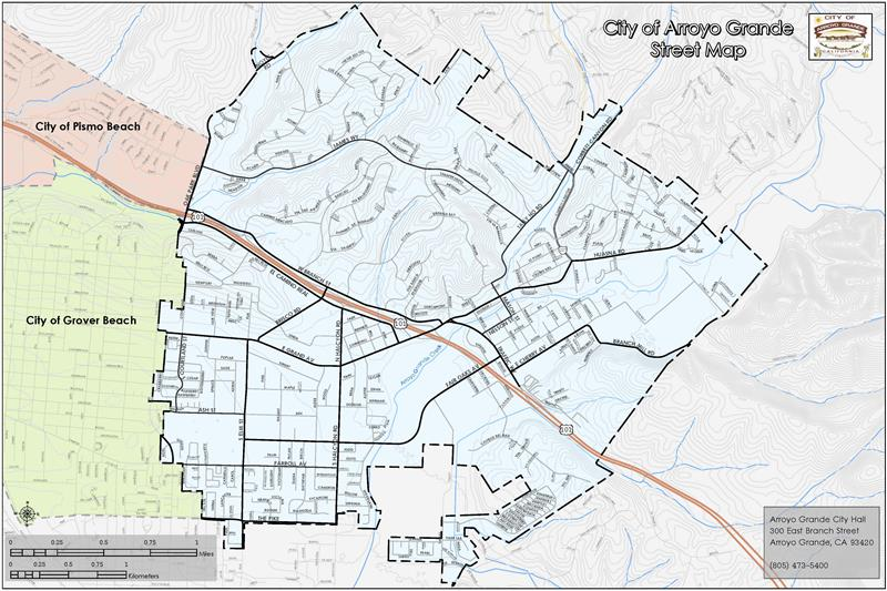Arroyo Grande Streets Map